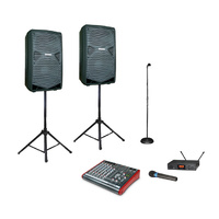 Wireless Microphone & Speaker System (500 Watts)